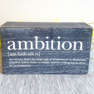 Ambition Quote Table-Top Sign